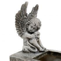 Pflanzgefäß mit Engel Grau 17cm