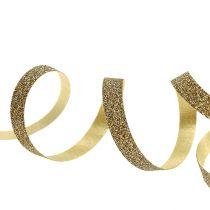 Geschenkband mit Glimmer Gold 5mm 150m