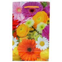 Geschenktüte mit Blumen 12cm x19cm 1St