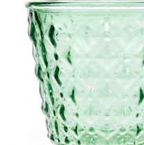 Glaswindlicht Ø11,5cmH15,5cm türkis