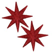 Glitterstern Rot Ø10cm 12St