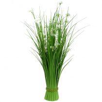 Grasbund mit Blüten Weiß 70cm