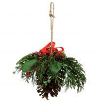 Weihnachtshänger mit Zapfen und Beeren 16cm