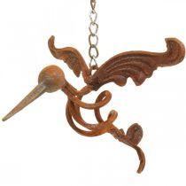 Kolibri Gartendeko Edelrost Metall Vogel zum Hängen 24×19cm