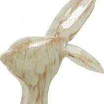 Dekofigur, Hase, Frühlingsdeko, Ostern, Holzdeko 30,5cm