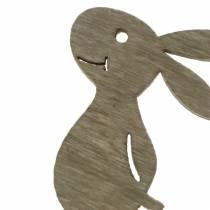 Streudeko Hase Holz Weiß, Creme, Braun Sortiert 4cm 72St