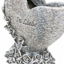 Herz zum Bepflanzen, Grabvase, Rosenherz, In Liebe H14 B12cm 2St
