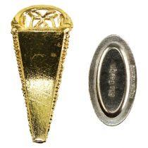 Hochzeitsanstecker mit Magnet gold 4,5cm