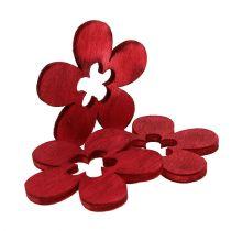 Holzblumen Rot 4cm 72St
