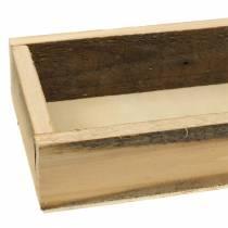 Holztablett Natur 37,5cm x 14,5cm H6,3cm