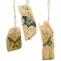 Anhänger Treibholz mit Schmetterling 8-13cm 36St