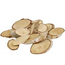 Holzscheiben Birke oval 5cm - 20cm 500g