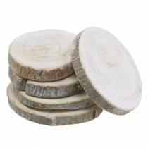 Holzscheiben rund Geweißt Ø3-4,5cm 400g im Netz