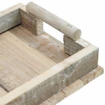 Holz-Tablett, Tischdeko, Tablett zum Dekorieren, Holz-Deko 31cm