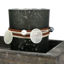 Holztablett mit 3 Teelichtgläsern Grau, Silber