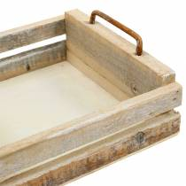 Holztablett mit Griffen quadratisch 30×30/24×24/18×18cm 3er-Set