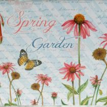 Jardiniere Pflanzkasten mit Griffen Metall Blumen Frühlingsdeko 23×14×11cm