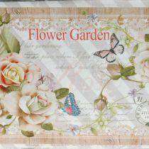 Jardiniere Pflanzkasten mit Griffen Metall Sommerdeko 23×14×11cm