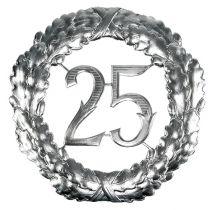 Jubiläumszahl 25 in Silber Ø40cm