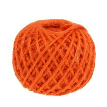 Jute Kordel Orange Ø3mm 100g