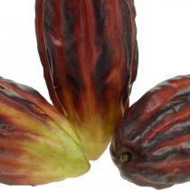 Kakaofrucht künstlich Deko Schaufenster Lila-Grün 17cm 3St