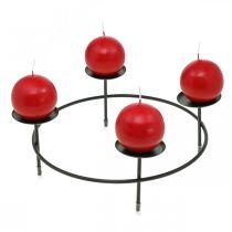 Kerzenständer für 4 Kerzen Schwarz Metall Tischdeko Ø28cm