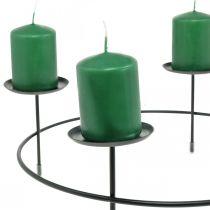 Kerzenständer für 4 Kerzen Schwarz Metall Kerzenhalter Ø34,5cm