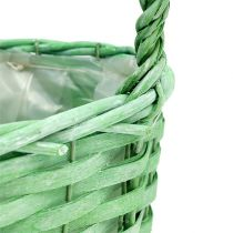 Korb zum Bepflanzen oval Grün 25cm x 17cm H14,5cm