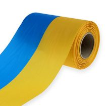 Kranzbänder Moiré blau-gelb 150 mm