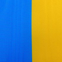 Kranzbänder Moiré Blau-Gelb 75 mm