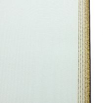 Kranzband Moiré 100mm, Weiß