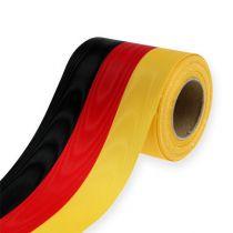 Kranzbänder Moiré schwarz-rot-gold 100 mm