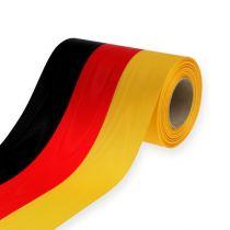 Kranzbänder Moiré schwarz-rot-gold 150 mm
