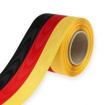 Kranzbänder Moiré schwarz-rot-gold 75 mm