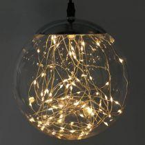LED Kugel Groß Innen und außen Ø20cm Klar 80L Warmweiß