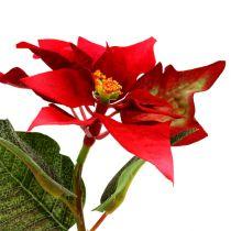Kunstblumen Weihnachtsstern rot L26cm