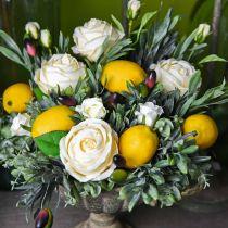 Kunstobst, Zitrone, Dekofrüchte L8,5cm Ø5cm 4St