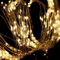 LED-Lichterbündel für innen und außen 640er 1,9m Silber/Warmweiß