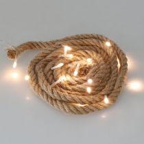 LED-Lichterkette Kordel für innen LED-Girlande 190cm 20L Warmweiß