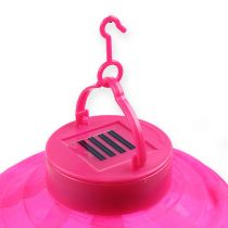 Lampion LED mit Solar 20cm Pink