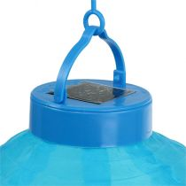 Lampion LED mit Solar 20cm Blau
