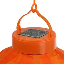 Lampion LED mit Solar 20cm Orange