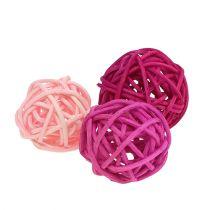 Lataball Sortiment 3cm Rosa/Pink/Flieder 72St