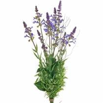 Künstlicher Lavendelstrauß, Deko-Lavendel Violett, Seidenblumen