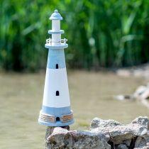 Leuchtturm Ø16cm H50,5cm Blau