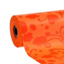 Manschettenpapier Orange mit Muster 25cm 100m