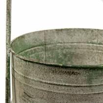 Metallständer mit Pflanzschalen Grau, Grün H68cm