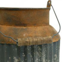 Deko Milchkanne Vintage Look Metall Pflanzgefäß Gartendeko H35cm