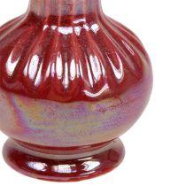 Mini Vase Ø5cm H10cm Perlmutt Rot 6St