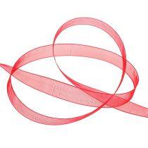 Organzaband mit Webkante 1,5cm 50m Rot